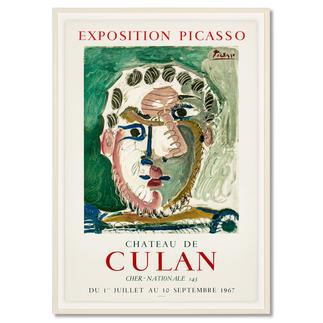 Pablo Picasso – Kopf eines bärtigen Mannes Zufallsfund: 50 Lithografien, die von Pablo Picasso persönlich autorisiert wurden. Im Werksverzeichnis aufgeführt. Exklusiv bei Pro-Idee. Maße: gerahmt 60 x 85 cm