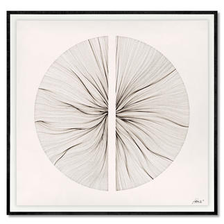 John Franzen – Each Line One Breath Jede Linie ein Atemzug. John Franzens erste Edition in Europa. Maße: gerahmt 100 x 97 cm