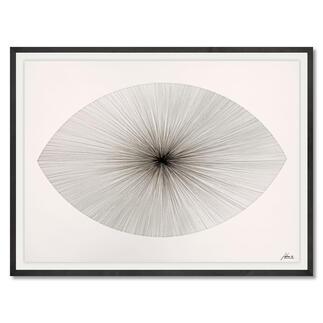 John Franzen – Each Line One Breath_2020 Jede Linie ein Atemzug. John Franzens ellipsenförmiges Meisterwerk. Exklusiv bei Pro-Idee. Maße gerahmt: 108 x 78 cm