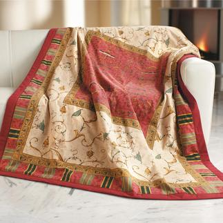 """Granfoulard®-Textilien """"Oplontis"""" Traumschön als prachtvolles Plaid und dekorative Tischwäsche."""