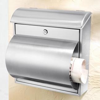 Edelstahl-Briefkasten Solide, langlebige Qualität. Mit praktischem Zeitungsfach.