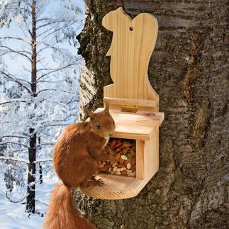 Eichhörnchen-Futterhaus Schon bald der belebteste Tummelplatz in Ihrem Garten.