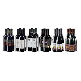 """Weinsammlung """"Die kleine Rotwein-Sammlung Frühjahr/Sommer 2017"""", 24 Flaschen Wenn Sie einen kleinen, gut gewählten Weinvorrat anlegen möchten, ist dies jetzt besonders leicht."""
