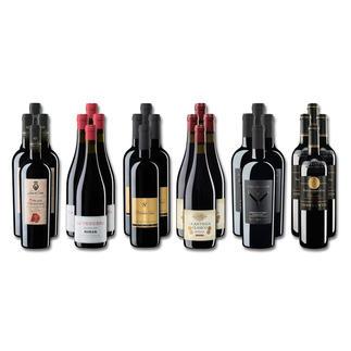 """Weinsammlung """"Die kleine Rotwein-Sammlung für anspruchsvolle Genießer Frühjahr 2018"""", 24 Flaschen Wenn Sie einen kleinen, gut gewählten Weinvorrat anlegen möchten, ist dies jetzt besonders leicht."""