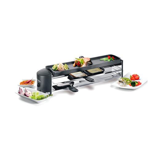 Design-Raclettegrill - Das schlanke Designstück passt perfekt auf jede Tafel. Schweizer Qualitätsprodukt.