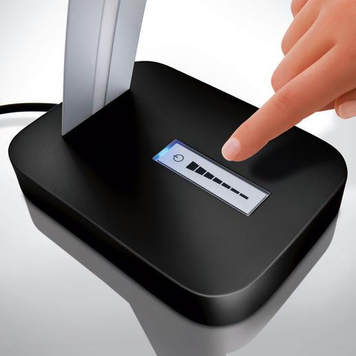 Den eingebauten 6-Stufen-Dimmer bedienen Sie einfach per Fingertipp.