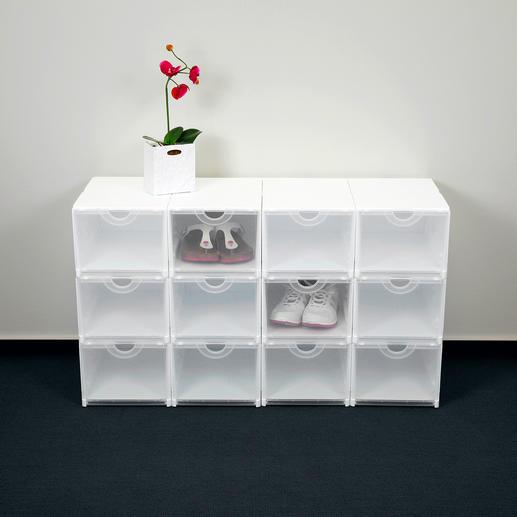 Geniale Faltboxen Weiß/Transparent