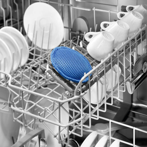 Bio-aktives Spülmaschinenpad Schont Ihr Geschirr, Ihre Maschine, die Umwelt. Und spart viel Geld.
