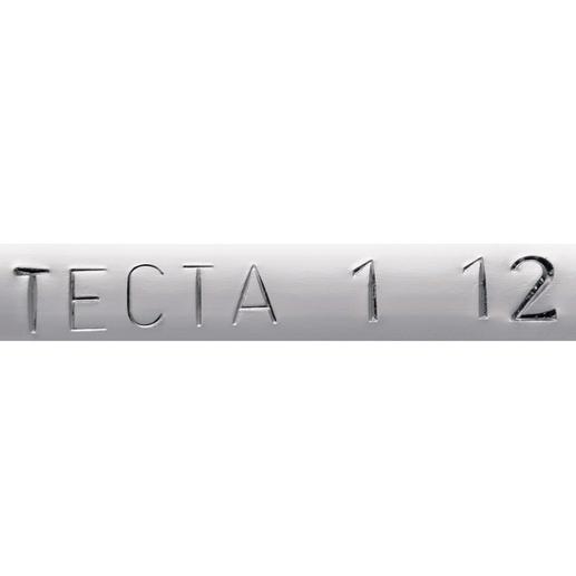 Jeder Bauhaus-Butler wird mit einem Ursprungszertifikat und geprägtem Tecta-Logo mit Herstellungsdatum, auf der Unterseite der Bügelstange, geliefert.