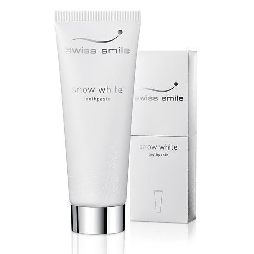 """swiss smile Whitening-Zahncreme oder """"Pearl Shine & Repair Conditioner"""" Strahlend weiße Zähne. Ohne aggressive Putzkörper, chemische Aufheller und Peroxide."""