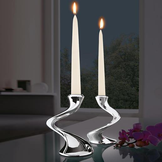 """Kerzenleuchter """"Windrush"""" - Fantastisch wandelbar. Passt auf jeden Tisch: Solist, Duo, Trio – und mehrarmiger Leuchter."""
