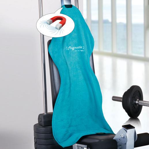 Magnatic® Sporthandtuch, 2er-Set - Viel praktischer. Und hygienischer. Rutscht nicht vom Hals. Und nicht von den Fitnessgeräten.