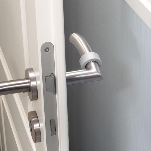 Fluoreszierende Türklinken-Puffer, 8er-Set - Viel praktischer (& sicherer): Markieren Türen bei Dunkelheit. Und können Wände, Tapeten & Türklinken schützen.