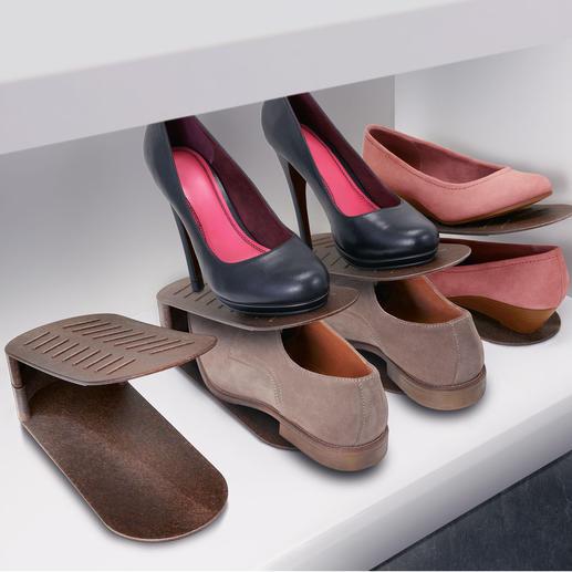 Schuhstapler, 8er-Set - Endlich Schluss mit Platzmangel im Schuhschrank und -regal.