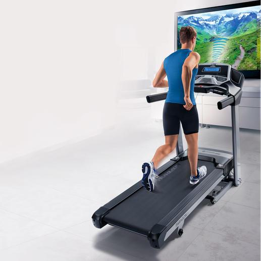 Horizon Fitness Laufband Paragon 6 inkl. Mediaplayer - Trainieren Sie in den schönsten Gegenden der Welt – ganz einfach zu Hause.