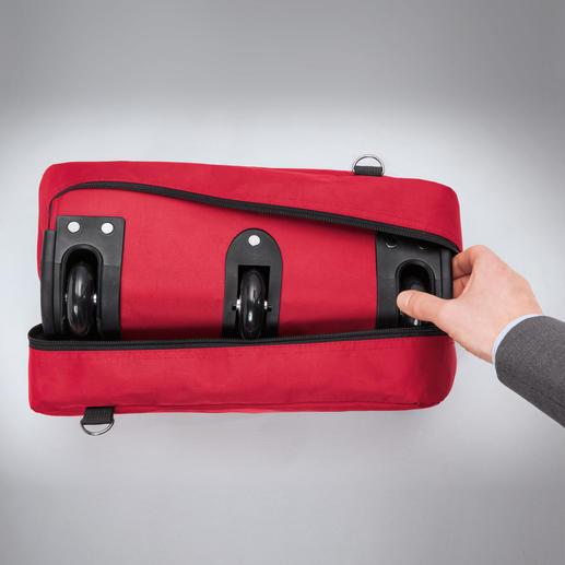 Zusammengerollt ist Ihre XXL-Reisetasche Platz sparend verstaut.