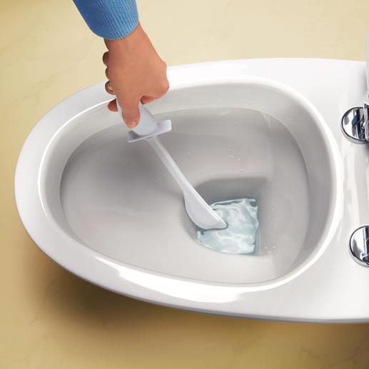 Viel flexibler als übliche WC-Bürsten.