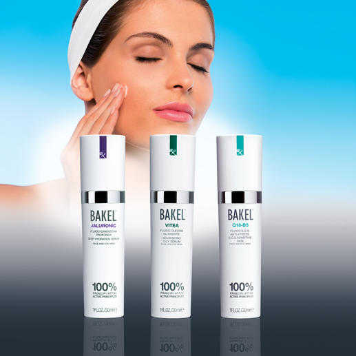 Bakel™ Anti-Aging-Fluids - 100 % wirksame Bestandteile. Sonst nichts. Klinisch geprüft.