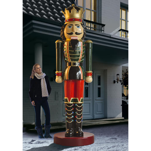 Nussknacker-König - Imposante 3,60 Meter groß. Blickfang in Ihrer Einfahrt, im Garten, ...