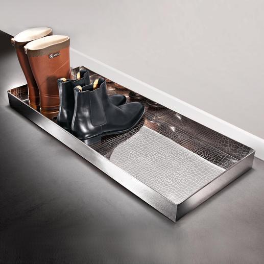 """Boot-Tray """"Alligator"""" - Eleganter Abstellplatz für nasse Schuhe und schmutzige Stiefel."""