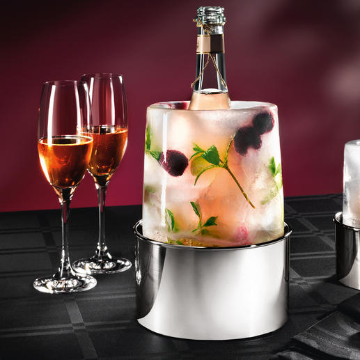 Eis-Cooler Fantasievoller Flaschenkühler – aus glitzerndem Eis. Ganz einfach selbstgemacht.