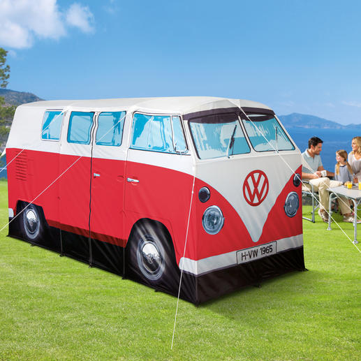 Campingzelt VW Bulli, Rot/Weiß