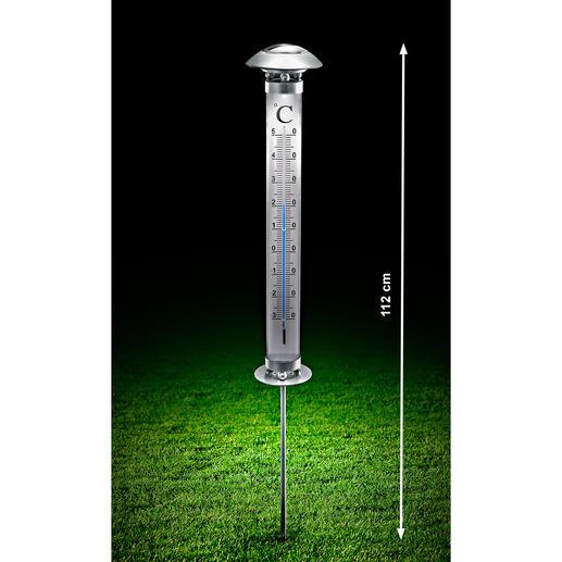 Solar-Gartenthermometer - Dieses Thermometer lesen Sie auch im Dunkeln ab – sogar auf mehrere Meter Entfernung.