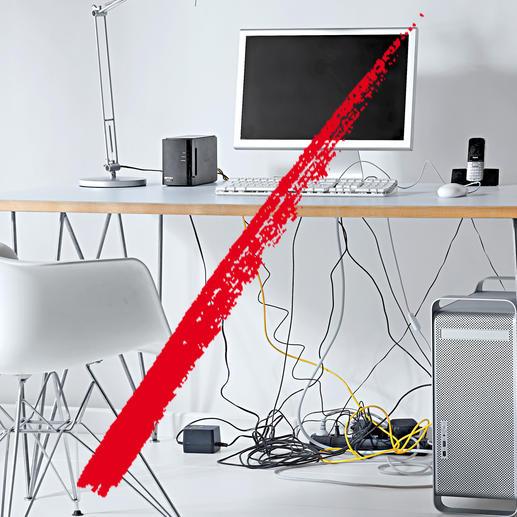 Schluss mit lästigem Kabelgewirr rund um Computer und Stereoanlage.