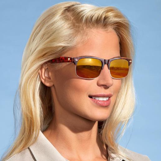 EAGLE EYES® Retro-Sonnenbrille Dank NASA-Technologie: 100 % UV-Schutz … dennoch kontrastreichere Sicht und enorme Detailschärfe.