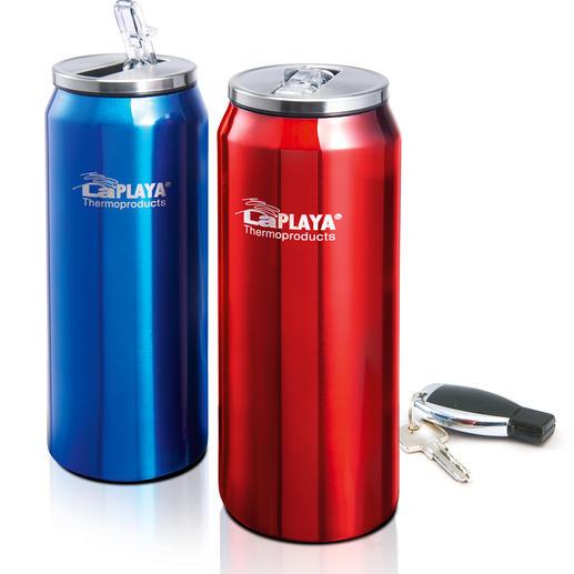 Thermo-Can mit Einhand-Verschluss, 2er-Set - Der geniale Trinkbecher: Auf und zu mit einer Hand. 100 % tropffrei. 100 % dicht.