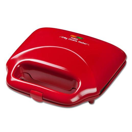 Das rote Gehäuse aus hitzeisolierendem PMC-Kunststoff bleibt beim Backvorgang kühl – ohne Gefahr für die Hände.