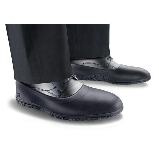 Antirutsch-Überschuhe flach oder Pumps - Zuverlässig bei Eis, Schnee und Nässe. Wasserdichte Überzieher halten Ihre Füße trocken & schonen Ihre Schuhe.