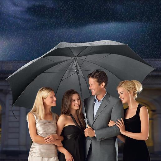 Doorman-Schirm XL 180 cm Ø (!). Der optimale Regenschutz für bis zu 7 Personen. Erfreulich günstig.