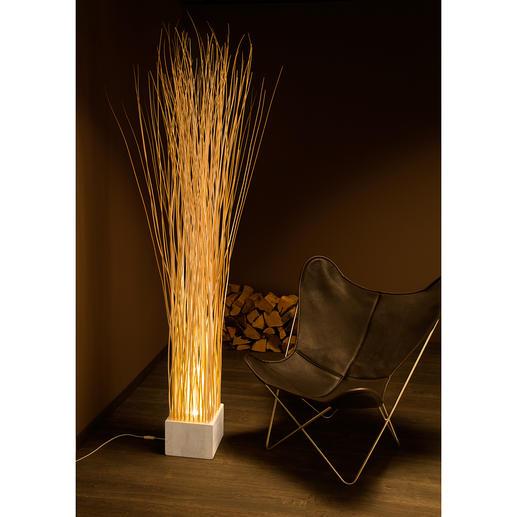 Weidenruten-Leuchte Weiß/Natur - Faszinierender Hingucker. Stylishes Lichtobjekt. Und ein wenig Wildnis für Ihr Ambiente.