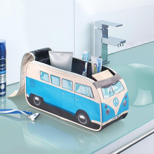 Kulturbeutel VW Bulli - Detailgetreu und offiziell lizensiert. Früher Kult-Bus – heute Kulturbeutel. Noch immer auf jeder Reise dabei: Der VW Bulli.