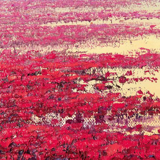Pei Lian Zhis Markenzeichen: der dicke Farbauftrag mit dem Ausblenden der Farbe in eine Richtung.
