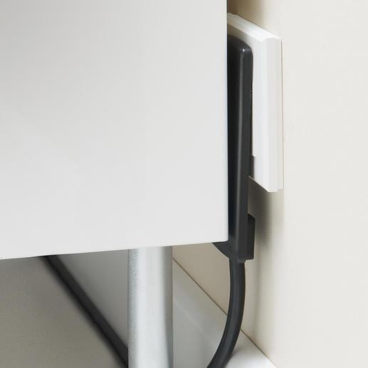 Nur 5 cm tief: perfekt hinter Schränken und Kommoden, dem Sofa, PC, Flat-TV, …