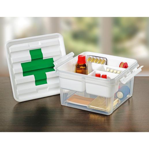 Hausapotheken-Box - In dieser praktischen Box verstauen Sie Medikamente, Verbandsmaterial, Pflaster, …