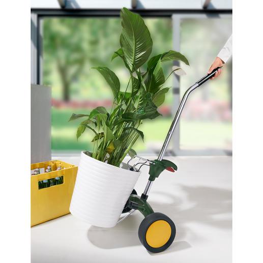 Pflanzkübel-Roller - Ganz leicht rollen statt mühsam schleppen. Vielseitiger Transportwagen für Pflanzkübel, Blumen- oder auch Getränkekästen.