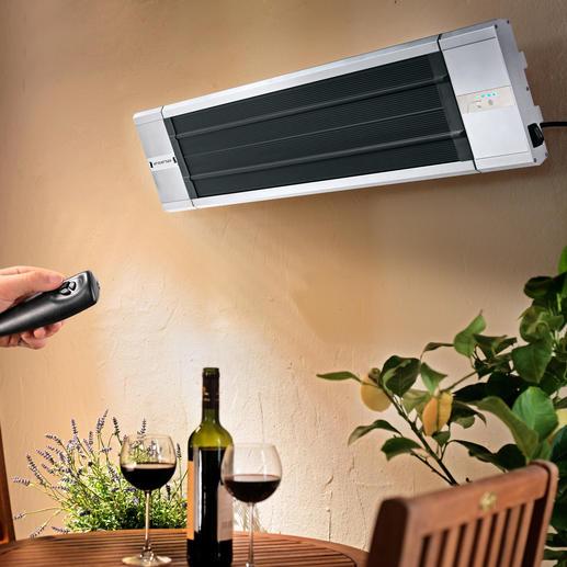 """Dank mitgelieferter Wandbefestigung können Sie """"Black Heat"""" um bis zu 32° in die gewünschte Position schwenken."""
