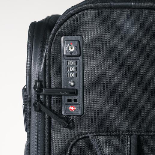 Mit dem TSA-Spezialschloss schützen Sie den Inhalt Ihres Gepäcks vor unerwünschtem Zugriff und Ihren Koffer vor dem gewaltsamen Öffnen des US-Sicherheitspersonals.