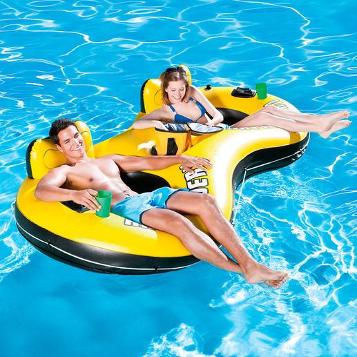 """Aufblasbarer Badesessel """"Duo"""" - Komfortabler Badespaß für zwei. Zweifache Erfrischung."""