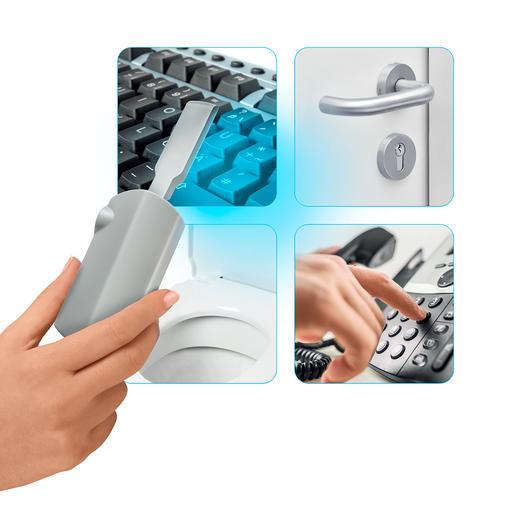 Perfekt, um z. B. Ihr Telefon, Ihre Türklinken, Tastatur und Toilette zu desinfizieren.