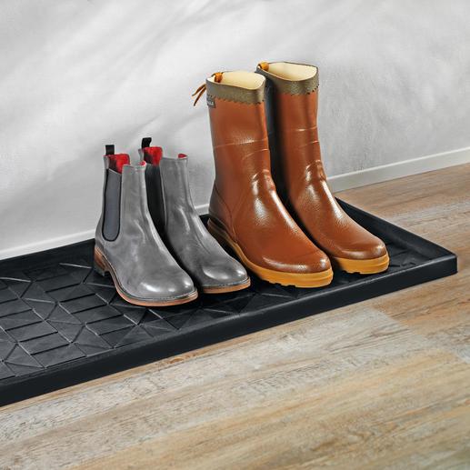 Tica Schuh- und Stiefel-Matte - Perfekter Trockenplatz für nasse Schuhe und Stiefel. Und zuverlässiger Nässeschutz für Ihre wertvollen Böden.