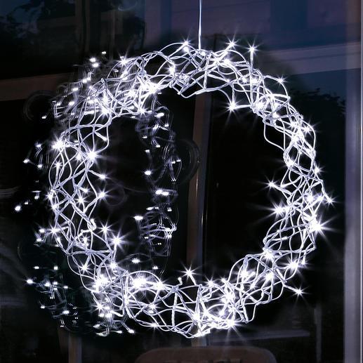 LED-Deko-Kranz - Stimmungsvoller Lichterglanz für Ihr Fenster, die Tür, Wand- oder Tischdekoration, ...