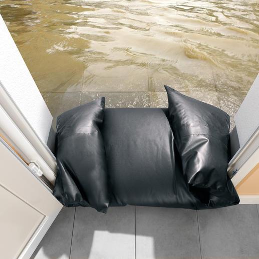 Mit diesem genialen Schlauch schützen Sie auch Hausflure und Kellereingänge in Minuten vor Wassereintritt.