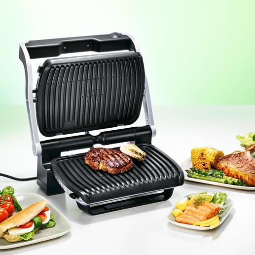 Tefal OptiGrill - Passt Grillzeit und -temperatur selbsttätig der Art und Stärke Ihres Grillguts an.