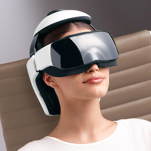 Kopfmassagegerät iDream3 - Genial kombiniert: Hightech-Massage für Kopf, Nacken und Augenpartie.