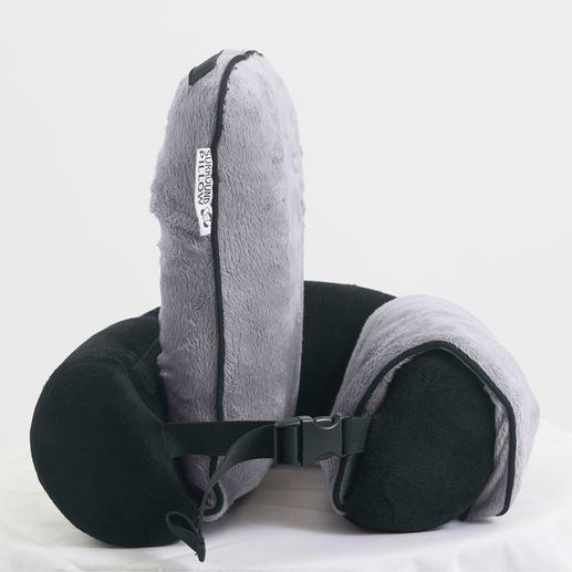 Reise-Nackenkissen mit Seitenstützen - Maximale Bequemlichkeit: Das Reise-Nackenkissen mit aufblasbaren Seitenstützen.