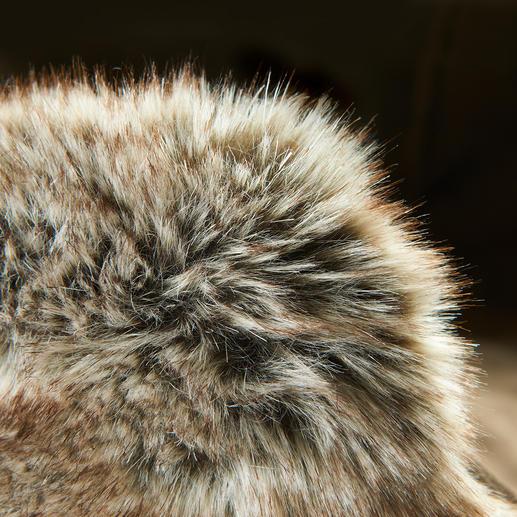 Auch bei genauem Hinsehen von naturgewachsenem Fennek-Fell kaum zu unterscheiden.